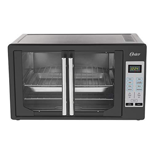 Oster TSSTTVFDDG-B French Door Toaster Oven, Extra Large, Black