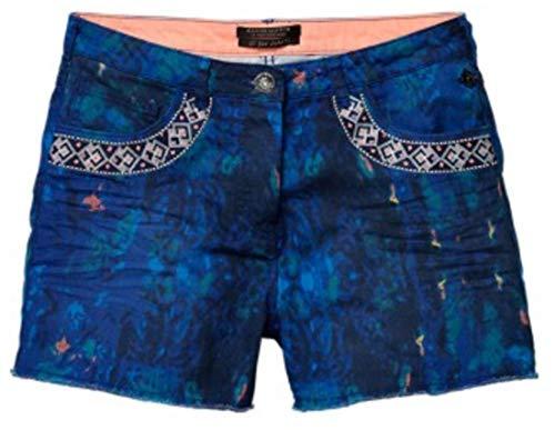 Maison Scotch damesshort hotpen jeansshort bermuda jeans dikke dyed (W25 (S), Triple-Blue)