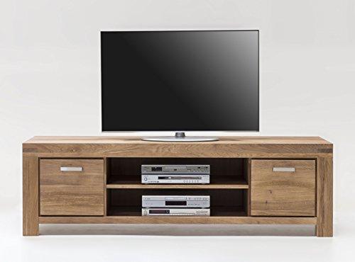 moebelstore24 TV Kommode 175cm Lowboard Wildeiche massiv geölt Kiroyal 2873