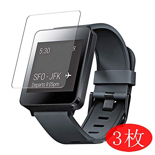 VacFun 3 Pezzi Trasparente Pellicola Protettiva per LG G Watch W100, Screen Protector Protective Film Senza Bolle e Auto-Curativo (Non Vetro Temperato)