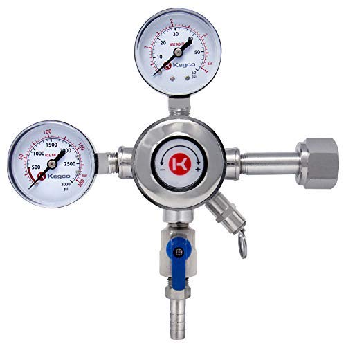 Kegco Premium Chrome Dual Gauge Co2 Regulator
