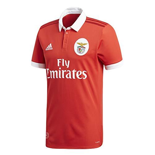 adidas Herren Benfica Lissabon Heimtrikot Replica, Benred/White, M