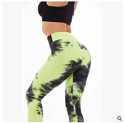 ArcherWlh Leggings Push Up,Pantalones de Yoga Pantalones Fruncidos Levantamientos de Culo Pantalones de Colores Pantalones de Yoga-Amarillo Negro_SG