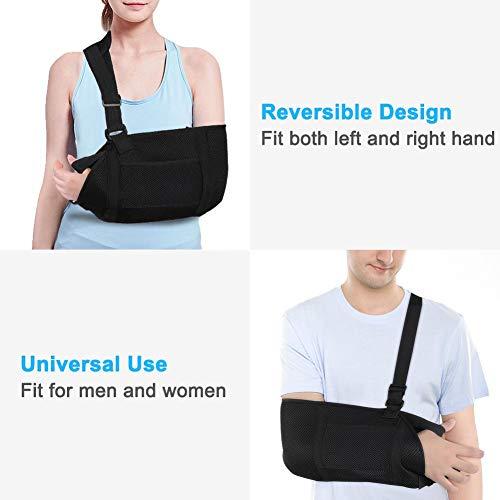 Zer One Medical Arm Sling, ademende en lichte mesh-sling met tailleband, stabiliseer je arm, schouders en pols na letsel of voor een gebroken arm