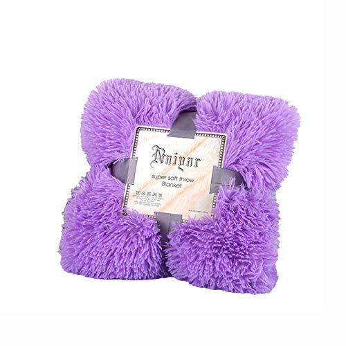 Colcha Kaisun 100% fibra de poliéster, ligera, mullida y larga, regalo para todas las estaciones, suave, felpa, cálida, perfecta para sofás, 80 x 120 cm