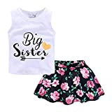 Mud Kingdom Little Girl Outfits Big Sister Floral Chiffon Size 7-8