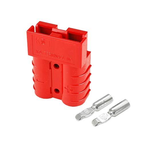 バッテリーコネクタ デュアルタイプ 35A 12~10AWG BMC2S-5-E 2セット入 レッド