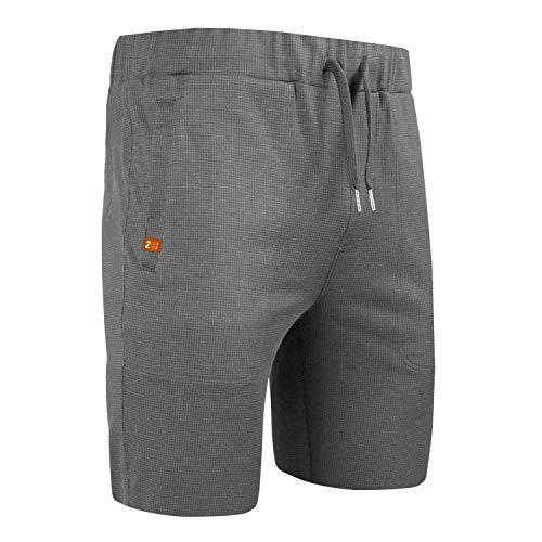 2UNDR Men's Leisure Short (Grey/Grey, X-Large)