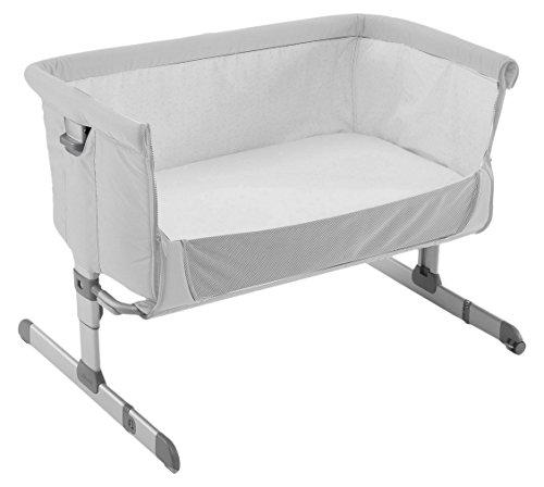 Chicco Next2me - Cuna de colecho con anclaje a cama y 6 alturas, colección 2017, color gris