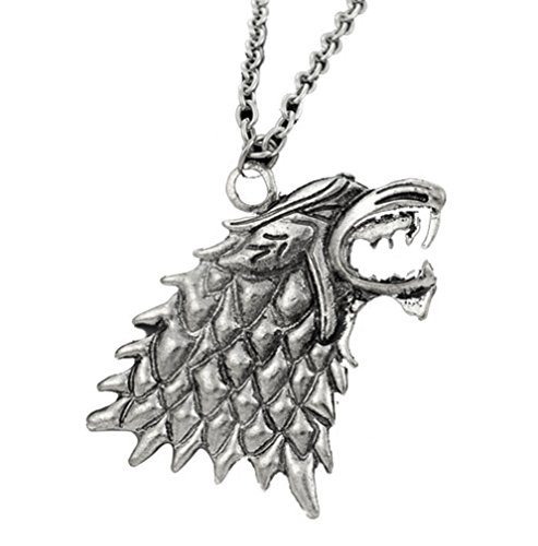 Game of Thrones Direwolves pendant costume jewelry necklace