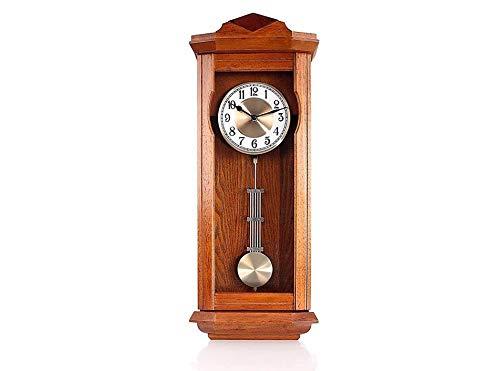 Westminster - Orologio da parete in legno, con vero pendolo