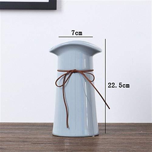 Bloem van het glas Vazen Creative Keramische Vaas Hydrocultuur Droge Bloem Container Eettafel Vaas voor Verjaardag Wedding (Color : Gray 22.5cm)