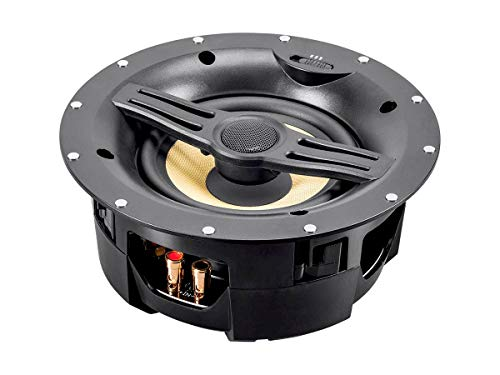 Monoprice  Fiber In-Wall Speaker - 6.5 Inch (Each) 300W Subwoofer, Easy Installation And Paintable Grill - Caliber Series