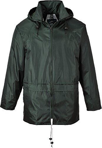 Portwest Men's Classic Rain Jacket XL (Chest 46-48in) - Olive