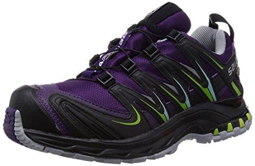 Salomon XA Pro 3D GTX Damen Trekking- & Wanderhalbschuhe, Violett (Cosmic Purple/Black/Granny Green), 36.7