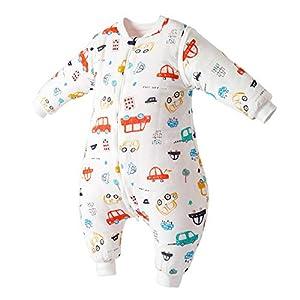 Happy Cherry – Saco de dormir para bebé de manga larga extraíble de algodón para niña, niño o niño, de 9 a 48 meses…