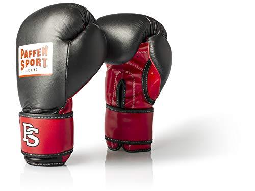 Paffen Sport Allround ECO Boxhandschuhe für das Training; schwarz/rot; 16UZ