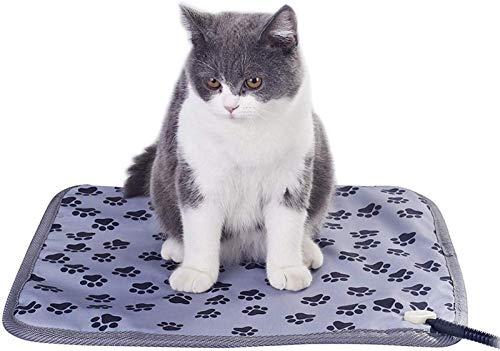 NOCEVCX Pista de calefacción por mascotas for perros de gatos, manta eléctrica suave, a prueba de agua, cálculos de animales, calentador, calentador de la casa, colchoneta climatizada, cama for mascot