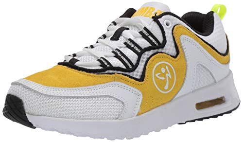 Zumba Women's Athletic Air Classic Gym Fitness Sneakers Dance Workout Shoes, Yellow, 8