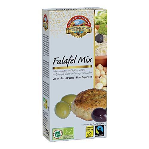 Bio Falafelmix glutenfrei Fairtrade 10x150g einfache Zubereitung in 10-Minuten – gelingt immer, wohlschmeckend lecker, Öko Kichererbsen Sesam Falafel Mix Mischung, vegan 1,5kg