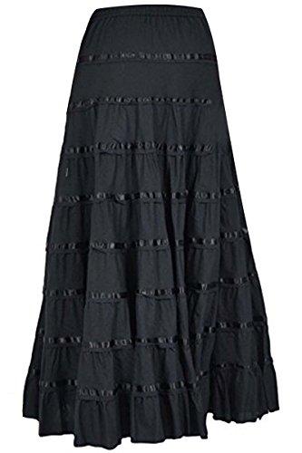 Phagun Frauen Baumwolle Langer Rock 9 Panel Full Circle Rock Maxi Sommer Kleidung