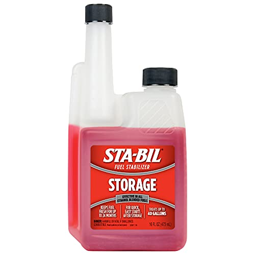 STA-BIL Storage Fuel Stabilizer - Guaranteed To Keep Fuel Fresh Fuel Up To Two Years - Effective In All Gasoline Including All Ethanol Blended Fuels - For Quick, Easy Starts, 16 fl. oz. (22207)