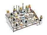Soporte pinturas modelismo 2021 organizador pinturas modelismo accesorios maquetas warhammer kit paint stand rack organizar botes pinturas acrílicas pinceles miniaturas (Z: Frontal con guias)