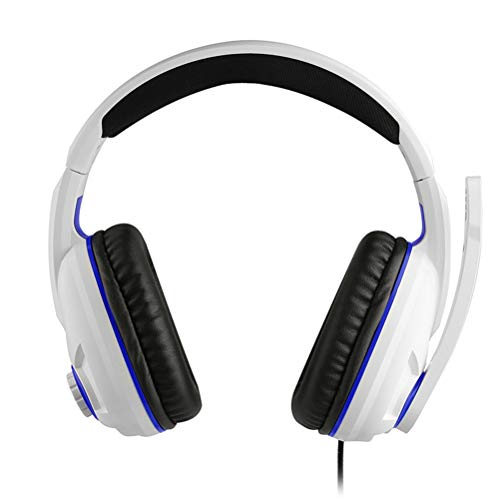 WUHUAROU Stereo Gaming Headset for 3.5Mm Wired Overhead Gamer Headphone with Microphone Illuminated Wire Control Earphone
