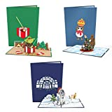 Lovepop Star Wars Holiday 3-Pack - 3D Cards, Christmas Pop Up Cards, Star Wars Christmas Cards, Holiday Pop Up Cards, Holiday Greeting Cards, Christmas Cards for Kids, Merry Christmas Cards