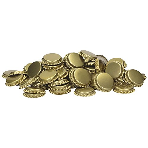 Coronas de corcho (29 mm, inserto espumado, 100 unidades), color dorado