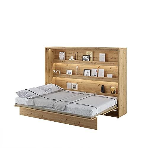 LENART Lit escamotable Bed Concept Horizontal 140 x 200 Chêne Clair