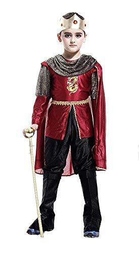 Prins kostuum - kinderen - vermomming - carnaval - halloween - uitstekende kwaliteit - maat m 110/120 cm - origineel idee voor een verjaardagscadeau cosplay