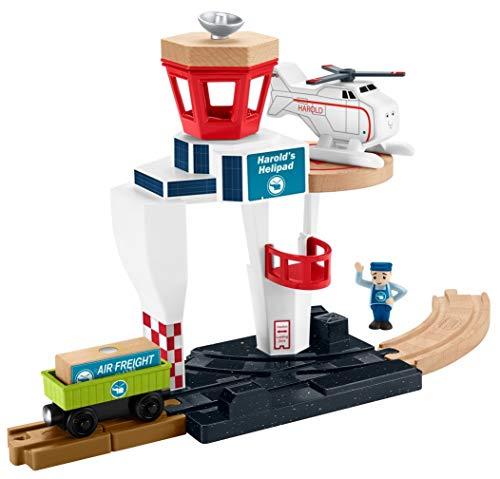 Thomas & Friends Fisher-Price Wood Harold's Helipad Playset