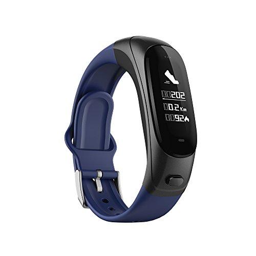 Auriculares Bluetooth inalámbricos de inteligencia de negocios, reloj deportivo multifunción con pantalla a color para hombres y mujeres, reloj deportivo ZDDAB con presión arterial dos en uno.