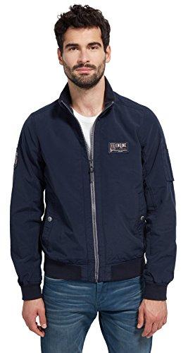TOM TAILOR Herren Casual Washed Blouson Jacket Jacke, Blau (Knitted Navy 6800), XX-Large