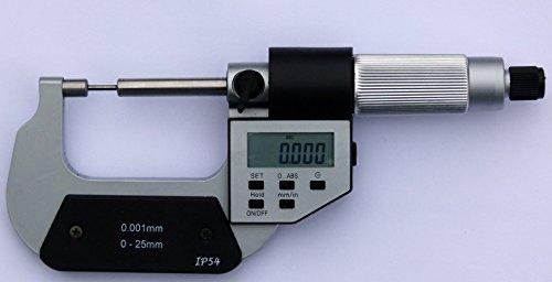 Micromètre digital touches fines - capacité 0-25 mm , lecture 0.001mm, IP54.