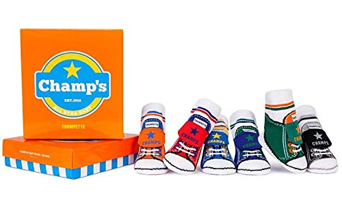 Trumpette Baby Boys Sock Set-6 Pairs, Champ's - Assorted Colors, 0-12 Months