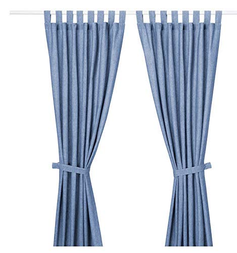Online Attack Lenda IKEA 2 Gardinen + Raffhalter, Leuchtend blau, 140x300 Wohnen Deko Schal