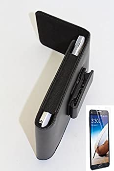 BLACK - Magnetic Closing Flap Smooth PU Leather Holster Pouch Case Vertical Pouch Belt Clip Case For Samsung Galaxy S5  belt clip with swivel 360 degrees design  Included  Matte Anti-Glare Screen Protector for Samsung Galaxy S5