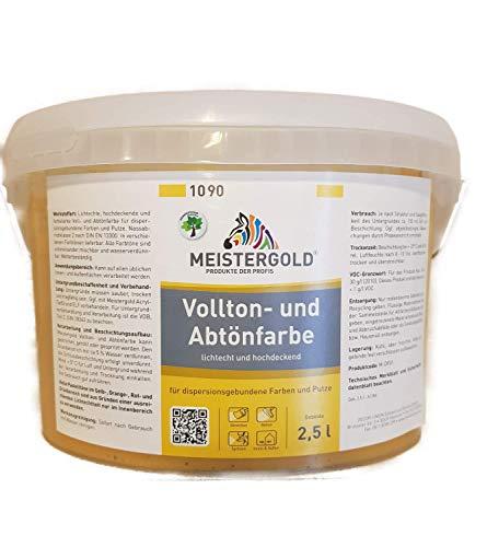 Meistergold Voll- und Abtönfarbe innen & außen Matt 2,5 L Farbwahl, Farbe:Ocker