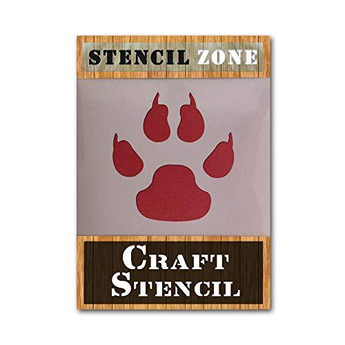 Tijger PAW dierlijke vorm AIRRUSH schilderij muur sjabloon A4 Stencil - Small