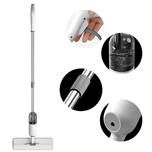 Spray Mop, Flat Spray Mop, microvezel Floor Spray Mop, met herbruikbare Microfiber Pad, Ideaal for Hardhout, Laminaat, Tegels en Meer XIUYU