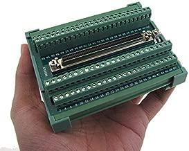 Compact 100-Pin SCSI Female Signals Breakout Board Module DB100 Din Rail Mount