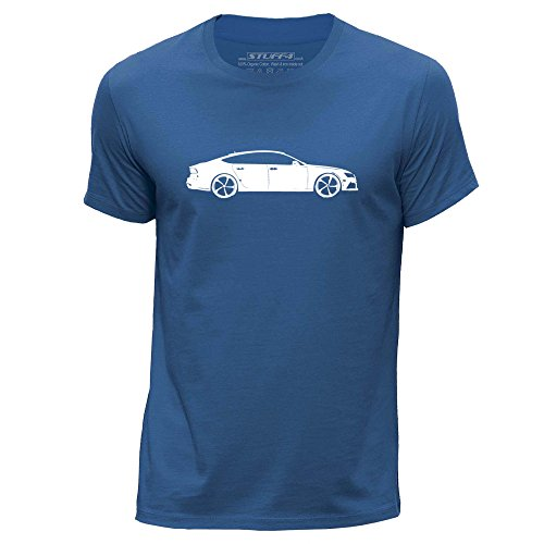 Stuff4 Hombres/X Grande (XL)/Azul Real/Cuello Redondo de la Camiseta/Plantilla Coche Arte /...