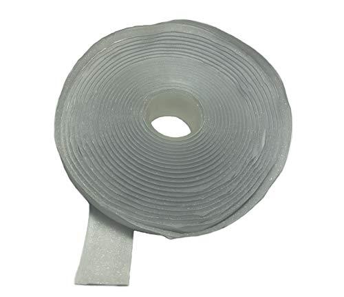 FrogJim 5m Flauschband Klettband selbstklebend mit spezial Klebeband, weiß, 20mm breit, 5m Rolle Flausch KRGWL5 (selbstklebend, Flauschband weiß)