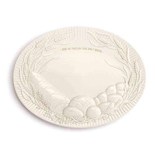 This Day Our Daily Bread Glossy White 17 x 13 Ceramic Earthenware Platter