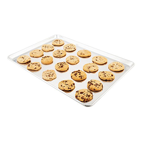 Met Lux 18 x 26 Inch Full Size Baking Sheet, 1 Heavy-Duty Cookie Sheet – Evenly Bakes Treats, Make Pastries, Pizzas, or Cookies, Aluminum Sheet Pan, For Commercial or Home Use – Restaurantware