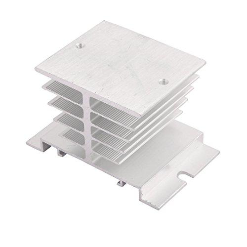 Sourcingmap® Aluminio Disipación De Calor del Disipador De Calor De Aleta De Enfriamiento Relé De Estado Sólido