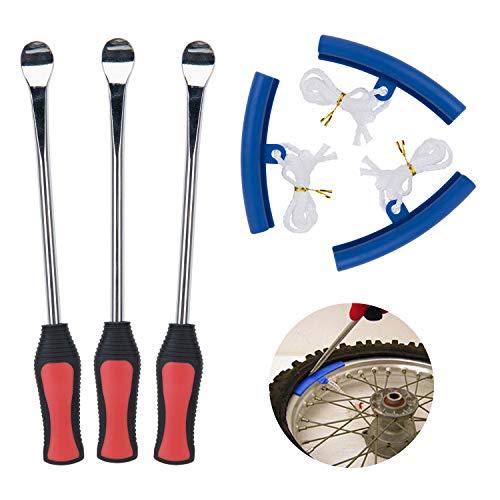 Fuumuui Reifenheber Löffel Set, Fahrradreifenheber mit Felgenschutz, Reifenentfernungswerkzeug für Motorrad, Fahrrad, Roller und ATV