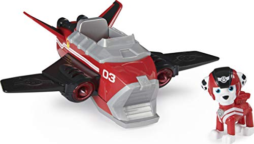 Paw Patrol, Jet to The Rescue Marshall's Deluxe Transforming Vehicle with Lights and Sounds, Amazon Exclusive
